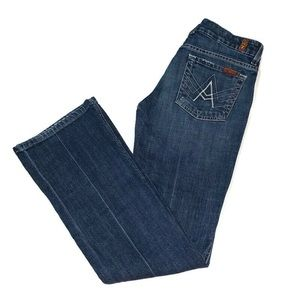 "7 For All Mankind ""A"" Pocket wide leg Jean 28x31"